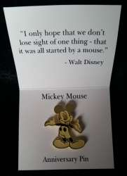 DMC Anniversary Gold Mickey