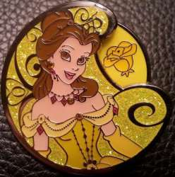 Belle with heart, rose, tiara or jewel spinner