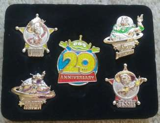 5 Pin Boxed Set - Toy Story 20th Anniversary