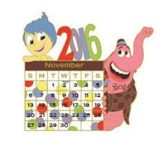 2016 PIXAR Calendar