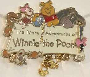 Winnie the Pooh with dangling honey bees