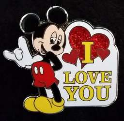 "Mickey Mouse Sign Language ""I Love You"""