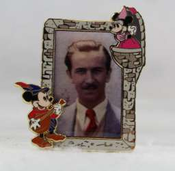 Walt Disney with Medieval Mickey and Minnie