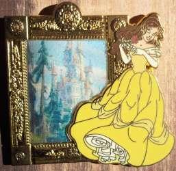 Belle Lenticular Magic Mirror Pin