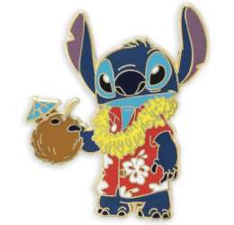 Stitch in Red Hawaiian Shirt with Coconut