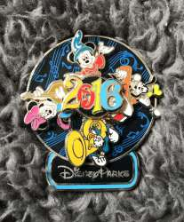 Sorcerer Mickey, Minnie, Donald, and Goofy Spinner