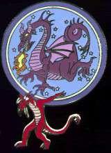 Mushu carrying Maleficent
