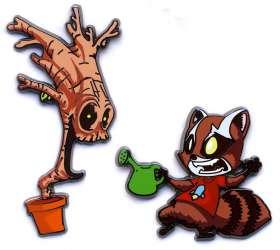 2016 SDCC Rocket & Groot 2 Pin Set