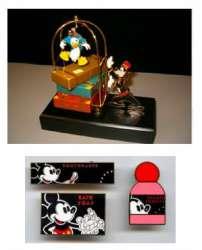 Donald and Goofy Bellman Cart Sculpt