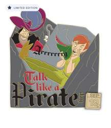 Peter Pan and Captain Hook Pin – Talk Like a Pirate Day 2020