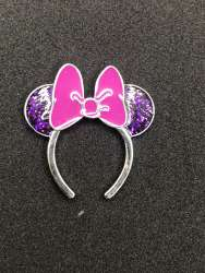 Series 2 - Purple glitter ears with violet bow
