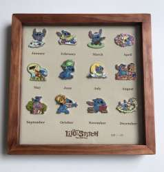 Year of the Stitch Framed Calendar Set of 12 Pins