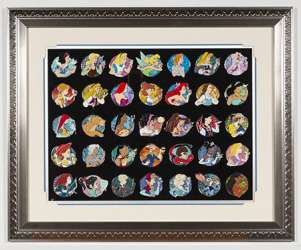Heroine Profile Artist Proof Framed Pin Set 35 pins