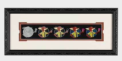 Nick Wilde Pin Progression Artist Proof Framed Pin Set