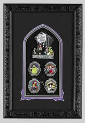 The Nightmare Before Christmas 25th Anniversary Artist Proof Framed Pin Set