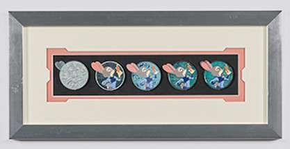 Judy Hopps Pin Progression Artist Proof Framed Pin Set