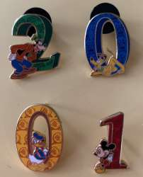 WDW 2001 Character Icon Numbers Set