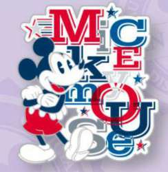 Mickey Mouse with Letters