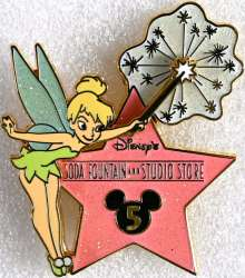 Tinker Bell and 5th Anniversary Hollywood Star