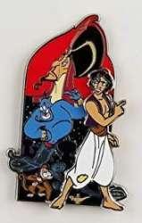 Aladdin, Abu, Genie and Jafar