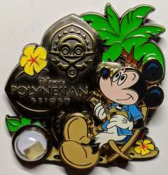 Polynesian Village with Mickey Mouse