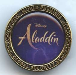 Aladdin Live Action World Premiere Global Security Pin