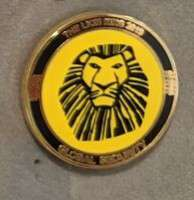 The Lion King West End Theatre Global Security Pin