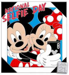 National Selfie Day 2020 - Mickey and Minnie Mouse