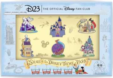 65 Years of Disney Parks D23 Pin Set