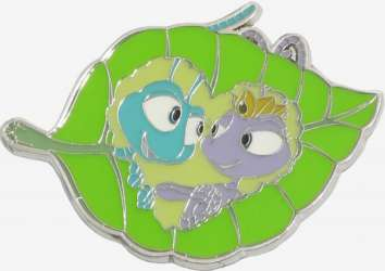 Flik and Atta in heart on leaf