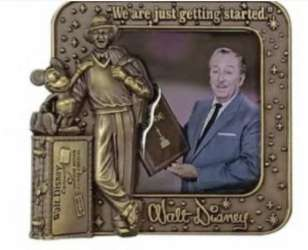 Walt Disney Framed with Gold Partners Statue
