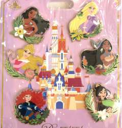 Moana, Aurora, Merida, Rapunzel, Pocahontas & Mulan
