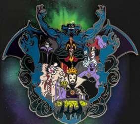 Chernabog, Maleficent, Jafar, Captain Hook, Cruella De Vil, Hades, Evil Queen and Ursula