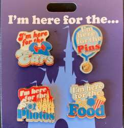 I'm Here for the Ears, Pins, Photos and Food Pin Set