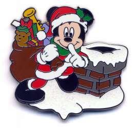Santa Mickey Mouse Holiday Pin 2020