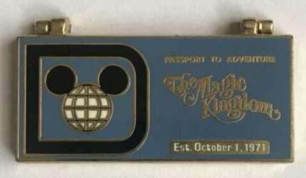 Disney Parks Passport to Adventure Magic Kingdom Ticket Book Hinged Pin