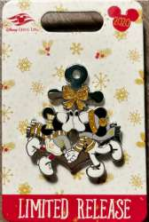 Mickey and Minnie Kissing Holiday Disney Cruise Line Pin