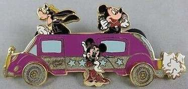 Mickey, Minnie, and Goofy with Limo