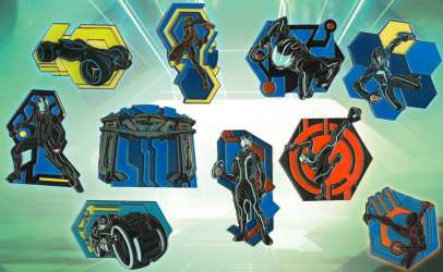 Tron Legacy Mystery Pin Set (Chasers)