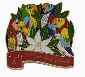 4 Tiki Birds Singing Words