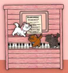 Aristocats Playing Piano