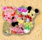 Mickey and Minnie with Flowers