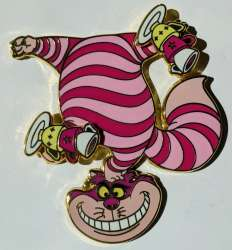 Cheshire Cat Balancing Tea Cups