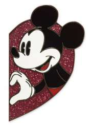 Mickey Mouse half heart