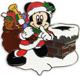 Christmas Holiday Mickey Mouse Santa with Toy Bag