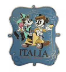 Italy Mickey and Minnie Mouse with Scooter and Snacks