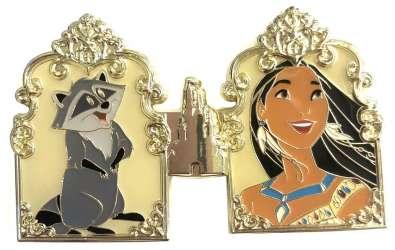 Pocahontas & Meeko -  Princess Castle 2-Pin Set - Pocahontas