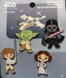 Star Wars Chibi 4 Pin Set