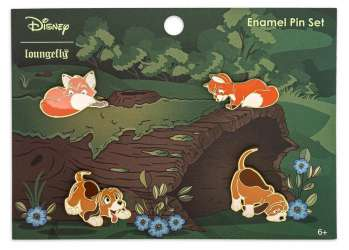 Loungefly - Disney Fox and The Hound 4 Pin Set