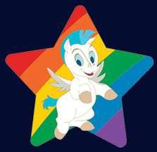 Pegasus Rainbow Pride Pin